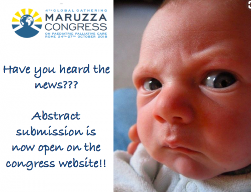 Έναρξη υποβολής περιλήψεων για το 4th Global Gathering Maruzza Congress on Paediatric Palliative Care